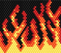 Free Pattern: Flames for Chapped Lips