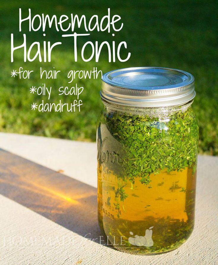 Hair / Care / Homemade hair tonic to promote hair growth, treat oily scalp & dandruff