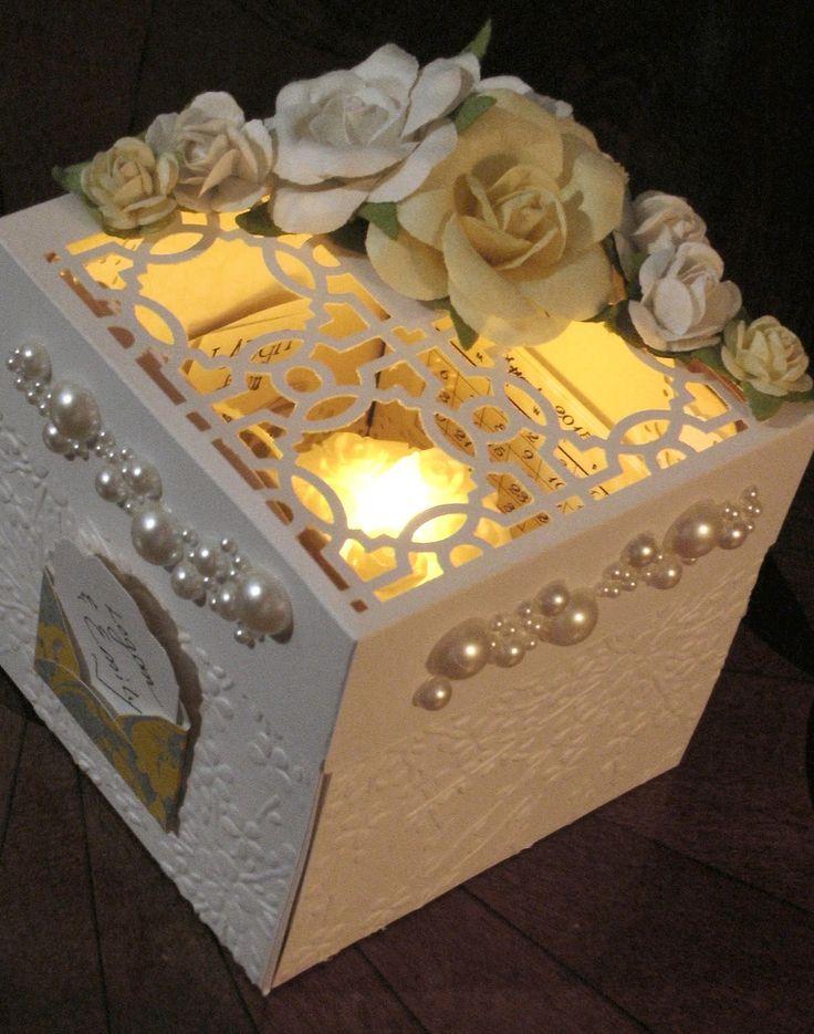 Wedding Explosion Box with Tea Light Cake