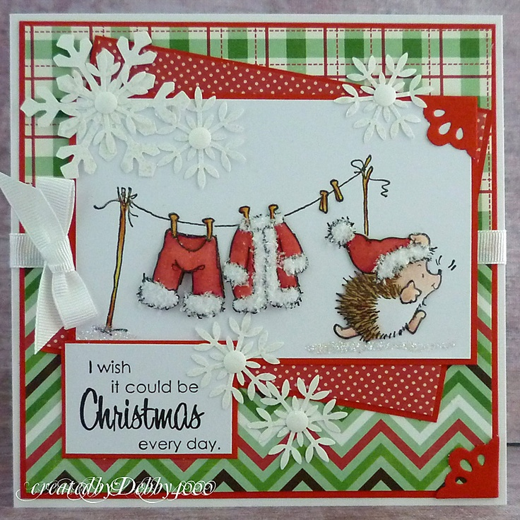 Penny Black Stamp called Chill Day - like layout for my Northwoods Santa clothes stamp