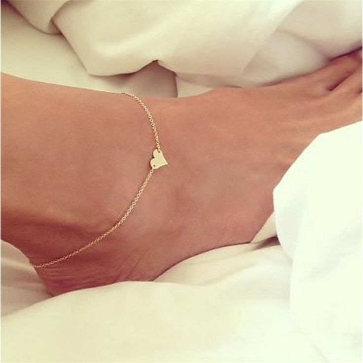 Novel design Girl Fashion Simple Heart Ankle Bracelet Chain Beach Foot Sandal Jewelry yjAnklets
