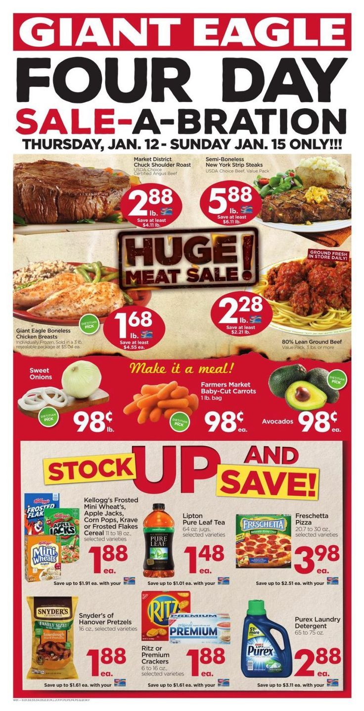 Giant Eagle Weekly Ad Circular 12 - 18 January United States #Grocery #GiantEagle