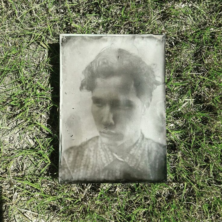 Wet plate collodion portrait