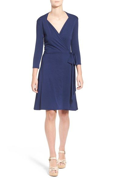 Loveappella Belted Wrap Dress available at #Nordstrom