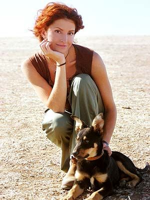Stevie with her dog. McLeods Daughters, natural beauty. Great tv, show, portrait, photo