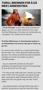 Torill brenner for å gå mer i arbeidstida.  Dagbladet Pluss: Sitter du mye? Sjekk hva det kan gjøre med helsa di