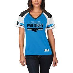 Majestic Carolina Panthers Women's Blue/Black Draft Me Fashion T-Shirt