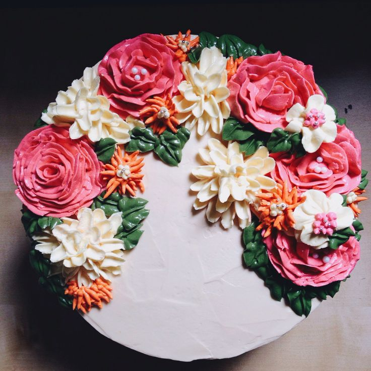 Flower Wreath #jemcakesandcookies