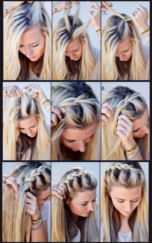 How To French Braid Your Hair Out Of Your Face