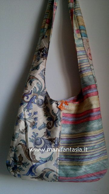come fare delle borse di stoffa estive facilmente con avanzi di stoffa e reversibili in meno di un ora con un modello molto semplice e attuale