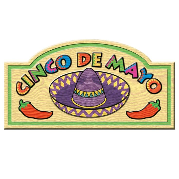"""Club Pack of 24 Festive Multi-Colored Cinco de Mayo"""" Sign Party Decorations 18.5"""", Multi"""