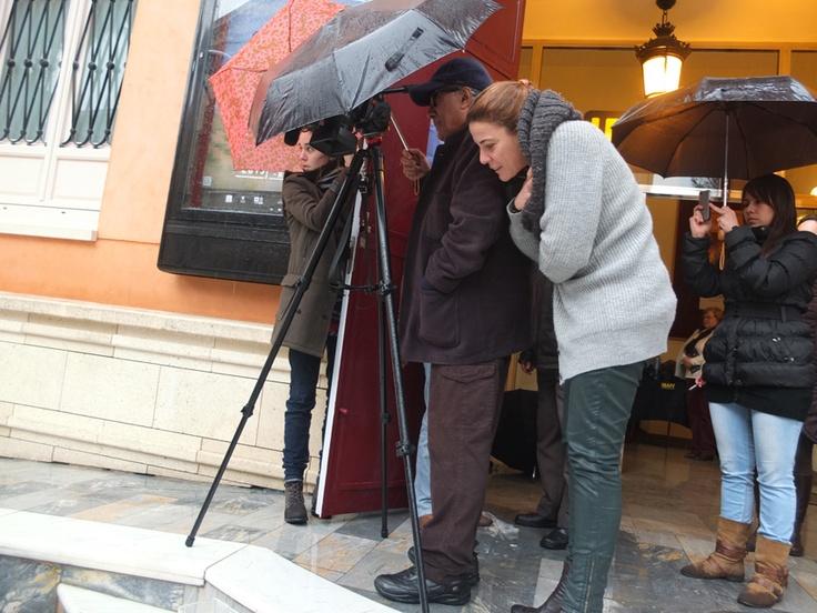 Abbas Kiarostami grabando con lluvia en Murcia