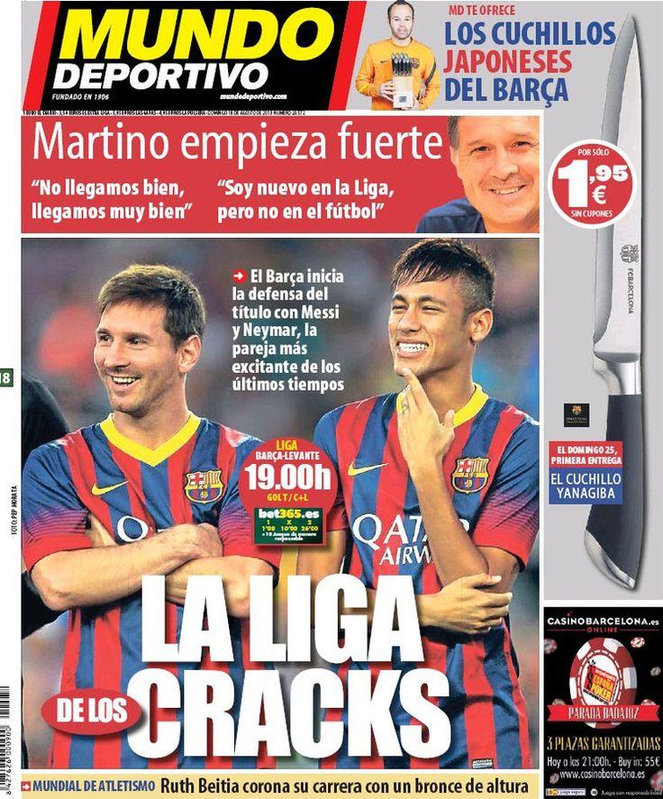 Los Titulares y Portadas de Noticias Destacadas Españolas del 18 de Agosto de 2013 del Diario Mundo Deportivo ¿Que le pareció esta Portada de este Diario Español?