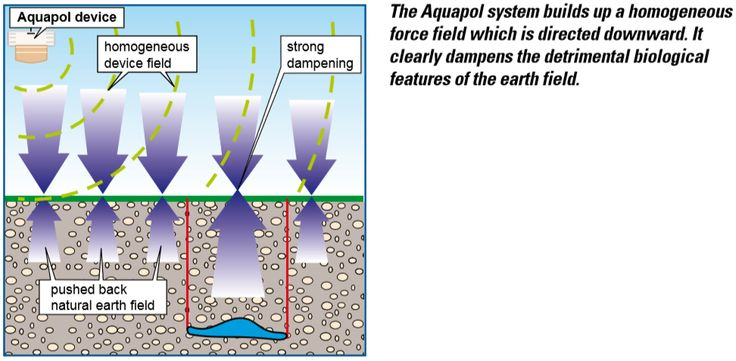 The aquapol system builds up a homogeneous force field