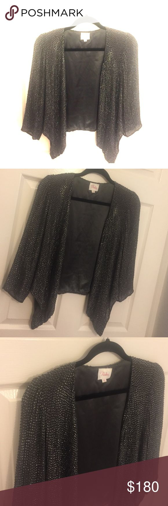 Parker sequin embellished jacket in Charcoal grey Parker sequin embellished jacket size xs Parker Jackets & Coats Blazers