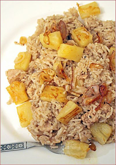 Nasi Ayam Nanas - Pineapple Chicken Rice
