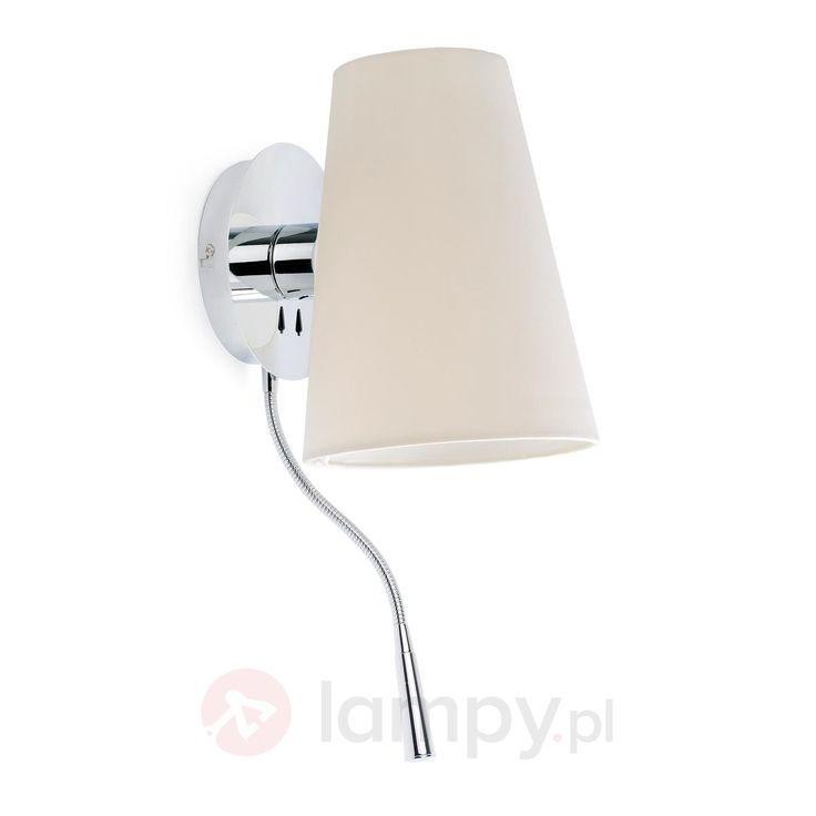 Lupe - materiałowa lampa ścienna z lampką do czyt. 3507183
