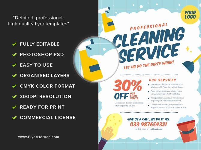Flyer Templates For Cleaning Services Cleaning Service Flyer