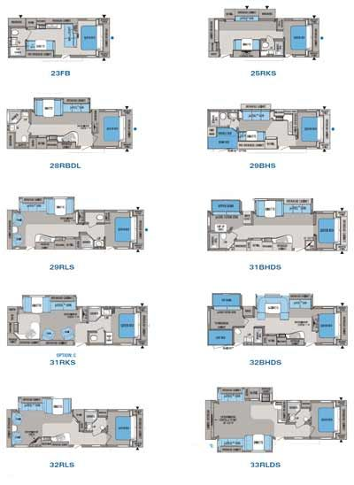 Rv 2 bathroom floor plans 2010 jayco jay flight g2 for 2 bathroom travel trailer