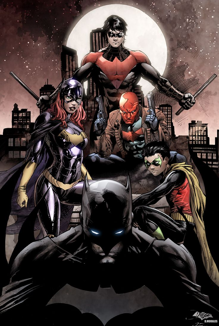 batfamily   Bat family by Bernard/Meyer colored by Dany-Morales
