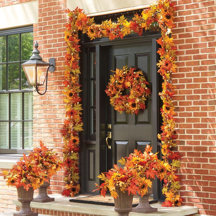 Decorating With Fall Colors: Realistic-looking Leaves, Sunflowers, Berries, And Real
