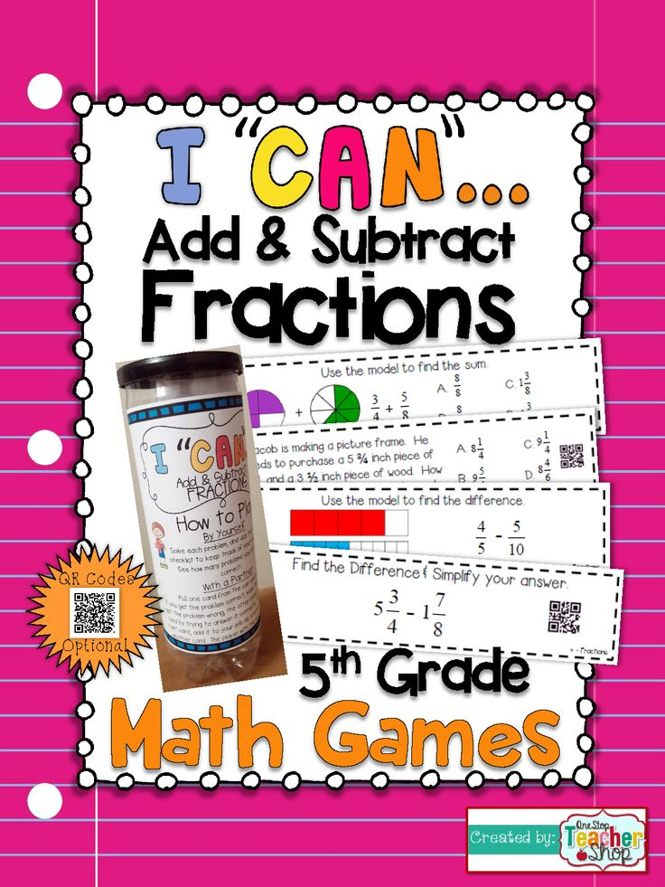 5th grade adding and subtracting fractions with unlike