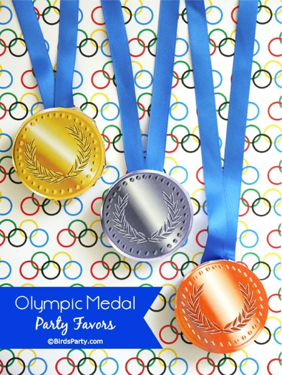 Printable Olympic chocolate medals #olympics #party