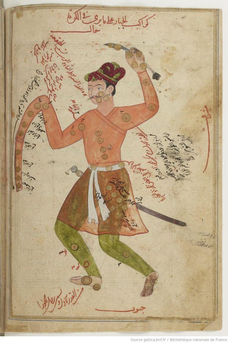 Kitab souwar al-kawakib (folio 142 v°) ; tables des étoiles fixes, par Aboul-Hasan ʿAbd al-Rahman ibn ʿOmar al-Soufi