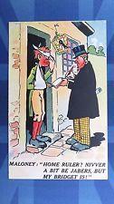 Political Comic Postcard 1900s Suffragette IRISH HOME RULE Theme