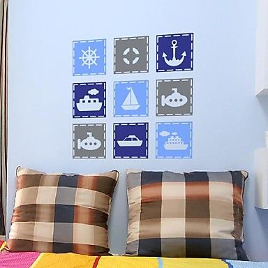 Wall Stickers Wall Decals,  Modern Cartoon Mediterranean elements PVC Wall Stickers – CAD $ 38.91