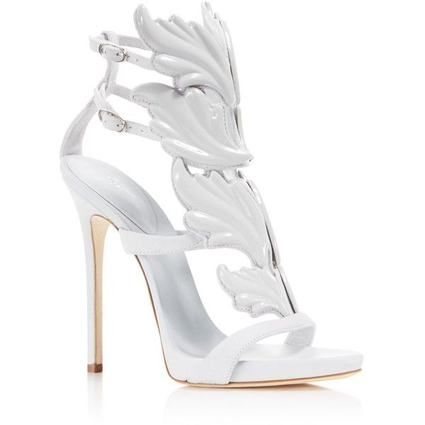 Giuseppe Zanotti Wing Caged High Heel Sandals ($1,595) ❤ liked on Polyvore featuring shoes, sandals, cam stilla, winged shoes, caged shoes, giuseppe zanotti, caged sandals and high heel shoes