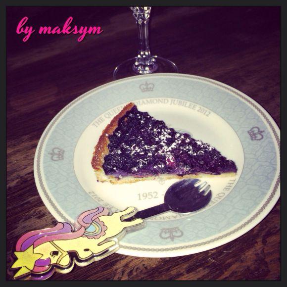 part de tarte aux myrtilles, blueberry pie