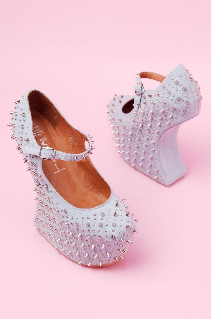 Jeffrey Campbell Prickly in Denim Silver #fashion #jeffrey campbell