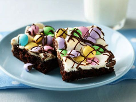 Pastel brownies for #Easter and #Spring. http://www.ivillage.com/easter-recipes-kids-make/6-a-524067#