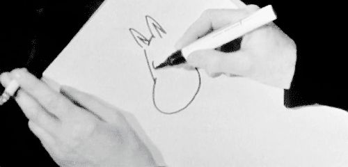 Tove Jansson drawing Moomintroll