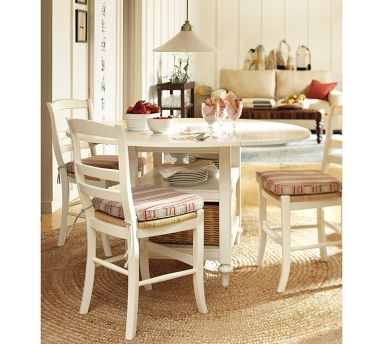 Love The White Round Table And Round Jute Rug