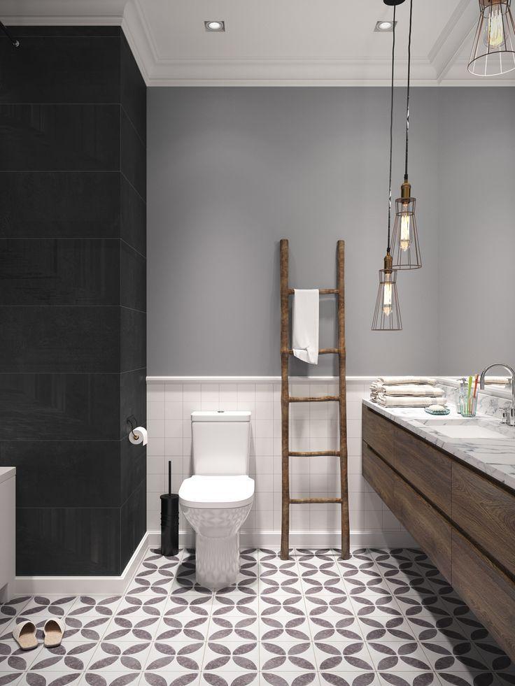 Scandinavian spirit in St Petersburg   Elegant bathroom ...