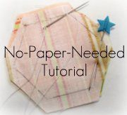 This is one of the best tutorials I have come across in a long time. I love English Paper Piecing but hate the paperes one needs to use.