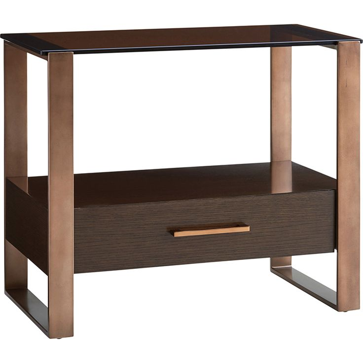Zavala Portico Nightstand in Brown | Lexington Furniture | Home Gallery Stores