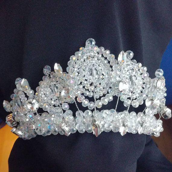 Crown Wedding Crown Wedding Tiara Crystal Crown by Jewelryforhair