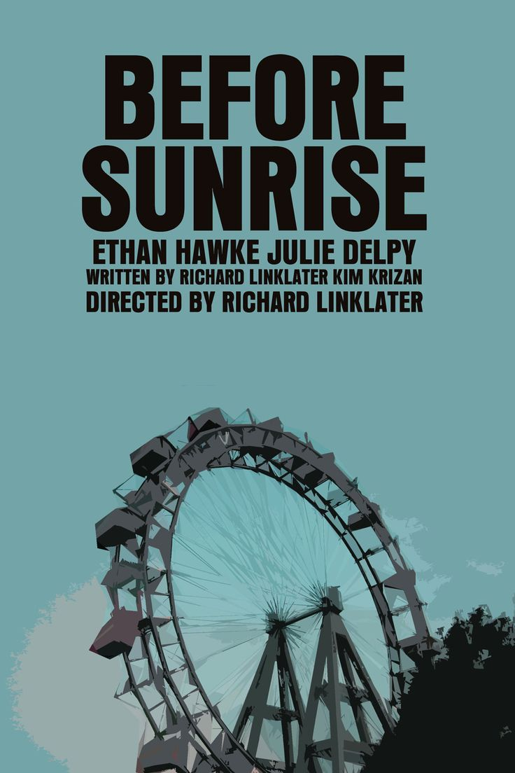 Before Sunrise/Before Sunset (2 Posters).
