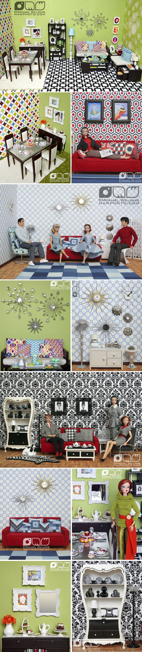 cool inspiration for bookshelf doll house use scrapbook paper and quilt cloth