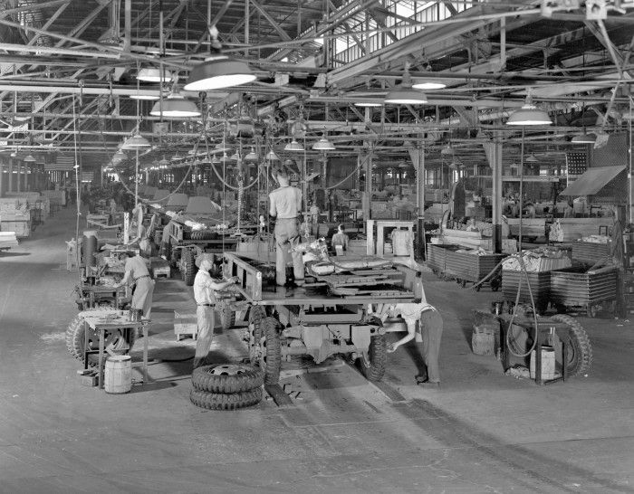 "* During World War II, GMC manufactured approximately 584,000 military vehicles of more than a dozen different types, including the CCKW-353 ""Deuce-and-a-Half"" and the amphibious ""Duck."" The Deuce and a Half, shown above being assembled in Pontiac, Michigan, was the most prevalent GMC military vehicle, with over 560,000 examples built over the course of the war.: General Motors, Gmc Cckw, Wwii, Gmc Military, Reo Trucks, Cars, Cckw 353, Military Vehicles, Military Trucks"