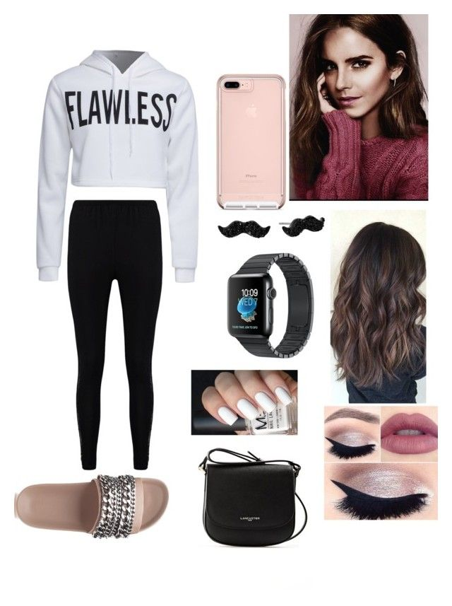 """""""Ariana hangin with fam"""" by biermann ❤ liked on Polyvore featuring Boohoo, WithChic, Kendall + Kylie, tarte, Kate Spade and Lancaster"""
