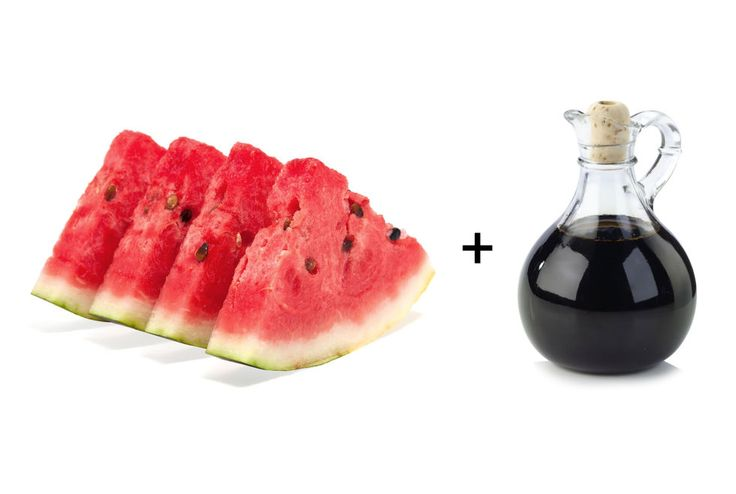 """""""Foods with a high water content keep us feeling full so we eat less, and few natural foods have more water than melon,"""" says Ansel. One cup is around 90 percent water and has only about 45 calories. The addition of balsamic vinegar helps activate pepsin, a digestive enzyme that breaks down proteins into amino acids."""