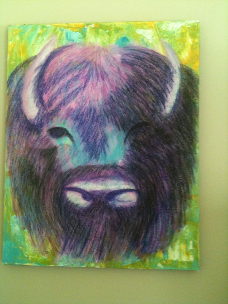"""Why not? A purple bison"" 2012"