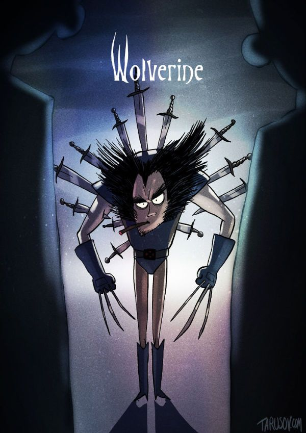 What if Tim Burton helped illustrate superheroes… Wolverine.