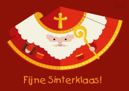 Knutselkaart! Maak je eigen Sinterklaasversiering van deze kaart! Knip de Sinterklaas uit, vouw hem in elkaar en klaar! Design: Ilse Gerritsen. Te vinden op: www.kaartje2go.nl  Maak nu jouw eerste kaart gratis op onze website!