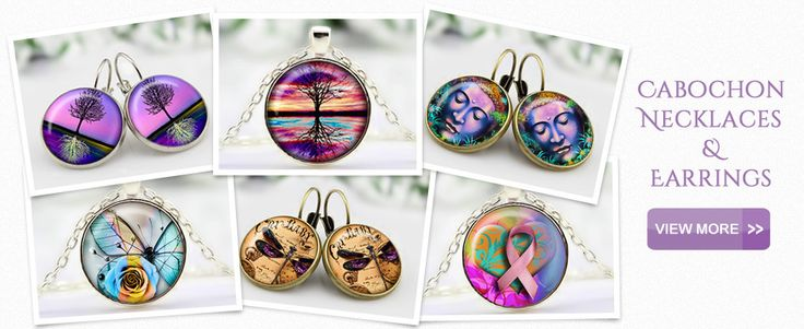 Cabochon Necklaces and Earrings
