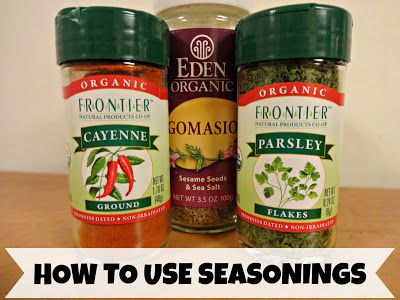 The Best Seasonings And How To Use Them http://www.thisflourishinglife.com/2013/02/my-favorite-seasonings-and-how-i-use.html